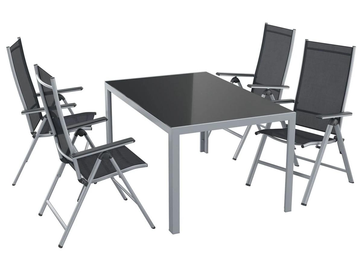 Bild 8 von FLORABEST Gartentisch Aluminium, Grau, Wendetischplatte