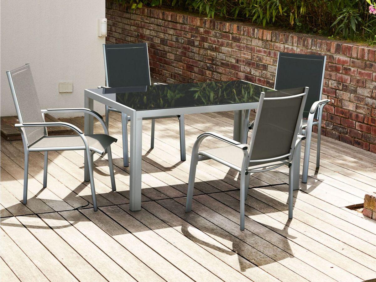 Bild 14 von FLORABEST Gartentisch Aluminium, Grau, Wendetischplatte