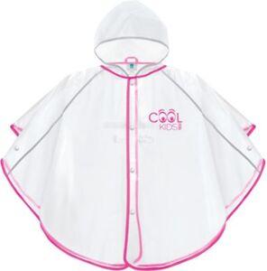 Cool Kids Regenponcho pink Gr. 3-4 Jahre Gr. 98/104 Mädchen Kleinkinder