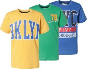 T-Shirts 3er Pack  von ZAB kids mehrfarbig Gr. 164/170 Jungen Kinder