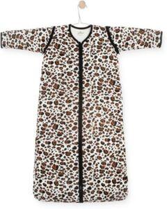 Schlafsack Leopard, abnehmbare Ärmel, braun, 70 cm