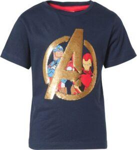 Marvel Avengers T-Shirt mit Wendepailletten  dunkelblau Gr. 104 Jungen Kleinkinder