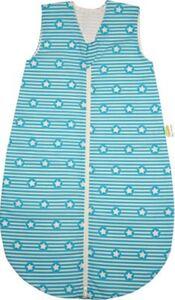 Basic Sommer-Schlafsack, unwattiert, stripes and stars türkis 70