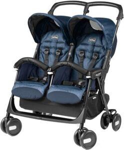 Zwillingswagen Aria Shopper Twin, Indigo schwarz/blau