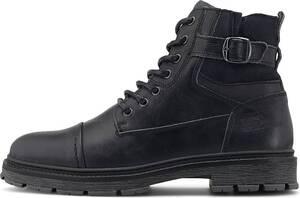 COX, Schnür-Boots in schwarz, Boots für Herren