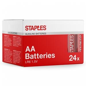 Staples AA 1,5 V Alkali-Batterien, 2550 mAh