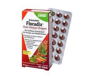 Salus Kräuterblut Floradix Eisen-Folsäure-Dragees  84 Dragees