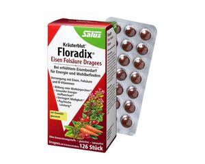 Salus Kräuterblut Floradix Eisen-Folsäure-Dragees 126 Dragees
