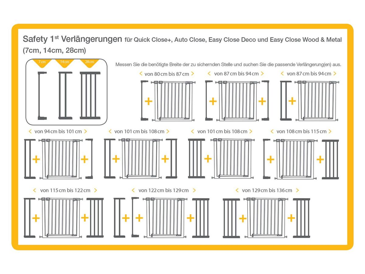 Bild 3 von Safety 1st Verlängerung für Türschutzgitter » U - Pressure Fit Extension+«, Klemmbefestigung, 7, 14 oder 28 cm