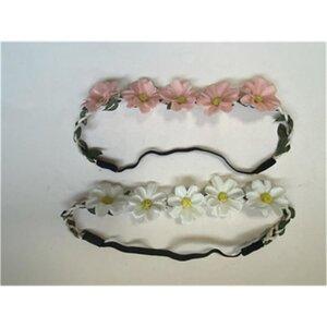 Haarband, mit Blumen, ca. 21 cm, verschiedene Farben
