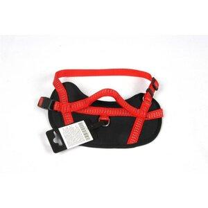 Hundegeschirr mit Griff, verschiedene Größen, rot/schwarz