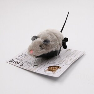 Katzenspielzeug/Aufziehbare Maus, 13,5 cm, grau, Polyester
