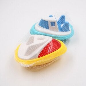 "2 Stück Strandspielzeug ""Speedboot"", ca. 13 x 9 x 8 cm, Kunststoff, gelb/blau"