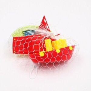 3 Stück Badeboote/Wasserspielzeug, ca. 12 x 5 x 10 cm, Kunststoff, bunt