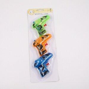3 Stück Wasserpistolen in verschiedenen Farben, ca. 9,5 cm, Kunststoff