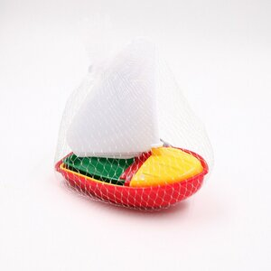 "3-teiliges Sandspielzeug-Set ""Segelboot"", Kunststoff, bunt"