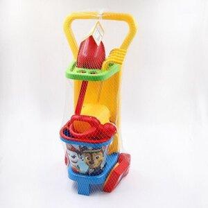 8-teiliger Wader Sandspielzeug-Caddy, ca. 24 x 59 x 22 cm, verschiedene Motive