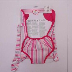 Bauchtragetasche für Baby-Puppen, rosa, mit verstellbarem Gurt, Polyester