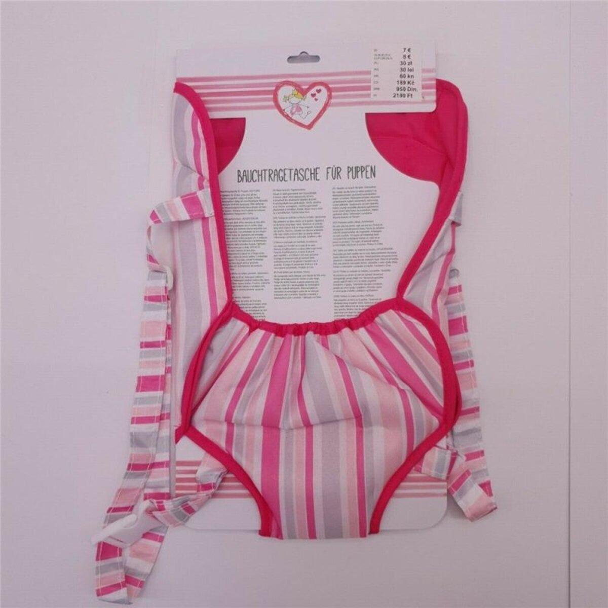 Bild 1 von Bauchtragetasche für Baby-Puppen, rosa, mit verstellbarem Gurt, Polyester