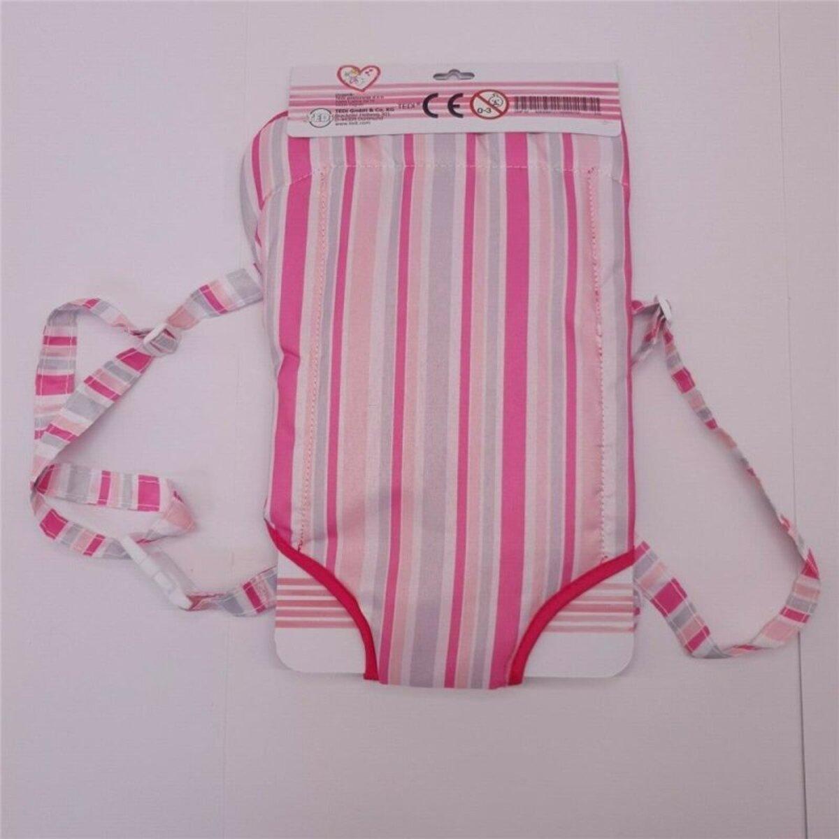 Bild 2 von Bauchtragetasche für Baby-Puppen, rosa, mit verstellbarem Gurt, Polyester