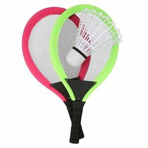 "Federball /Badminton-Set ""Jumbo"", ca. 56 x 29 x 15 cm, pink/grün"