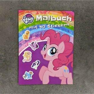 Hasbro My Little Pony Malbuch mit 40 Stickern, 48 Seiten
