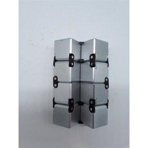 Infinity Cube, Metall, 9,5 x 3 x 15 cm, metallisch