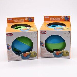 Rasselball / Babyspielzeug / Babyrassel / Greifling, ca. 15 x 13,5 x 15 cm, bunt