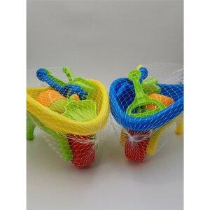 Sandspielzeug 6-teilig Schubkarre, verschiedene Farben