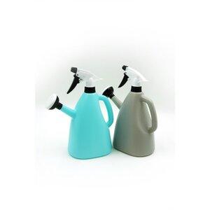 Gießkanne, mit Sprüher, ca. 1,2 l, Kunststoff, verschiedene Farben