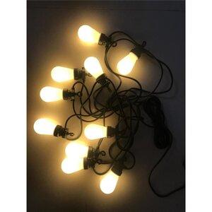 LED-Lichterkette, für Außen, 10 Birnen, Warmweiß