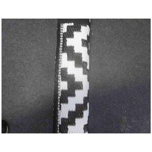 Outdoor Teppich, schwarz/weiß gemustert, recycelt, ca. 150 x 200 cm