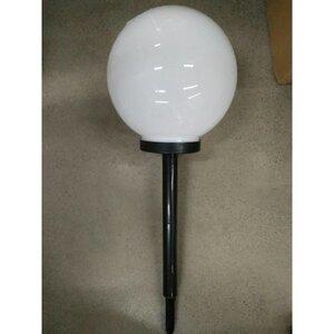 Solarlampe, Kugel mit Erdspieß, Ø ca. 30 cm, weiß