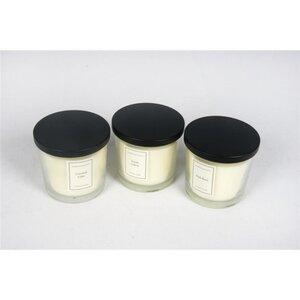 Duftkerze im Glas, 10,00 x 10,00 x 10,00 cm, verschiedene Düfte, Weiß