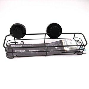 Duschablage/Duschkorb mit Saugnäpfen, ca. 35 x 9,5 x 6,3 cm, Metall, schwarz