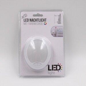 LED Nachtlicht / Nachtleuchte / Notlicht mit Farbwechsel, weiß