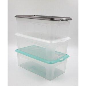 Schrankbox mit Deckel, 5 l, 35 x 19,5 x 11,5 cm, verschiedene Farben