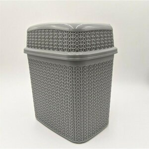 Schwenkmülleimer in Knit-Optik, 10 Liter