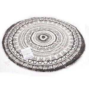 "Teppich ""Mandala"" rund, ca. Ø 55 cm, 100 % Baumwolle"