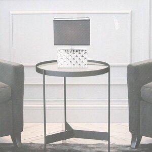 Tischlampe Deko Lampe Tischleuchte Nachttischlampe Schirmlampe silber / grau