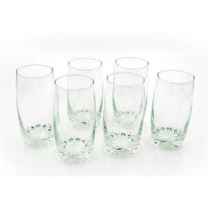 Trinkglas, 6 Stück, ca. 350 ml, Ø ca. 6 x 13 cm, transparent