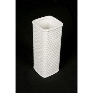 """Vase """"Waben"""", eckig, weiß, ca. 9 x 20 x 9 cm"""