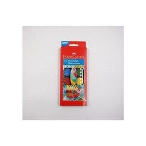 Faber-Castell 12 Deckfarben Wassserfarben-Set Wasserfarben inklusive Pinsel