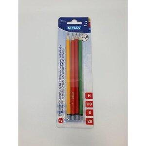 Stylex Bleistifte, 4er Pack, H/HB/B/2B