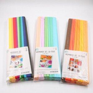 10er-Set Krepppapier/Feinkrepp Regenbogen, 50 x 200 cm, verschiedene Farben
