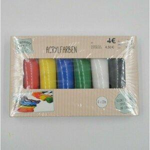 Acrylfarben-Set, 6 verschiedene Farben je 22 ml