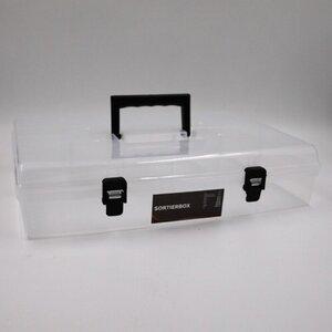 Sortierbox transparent Sortierkasten Kleinteilemagazin Schraubenbox 6 Fächer