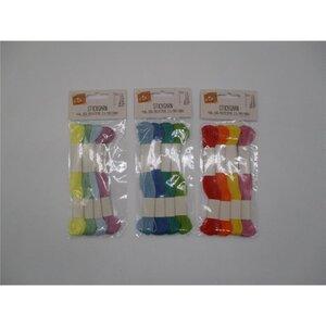 Strickgarn, 4 Stück, farbig sortiert, 4 x 8 m, verschiedene Farben