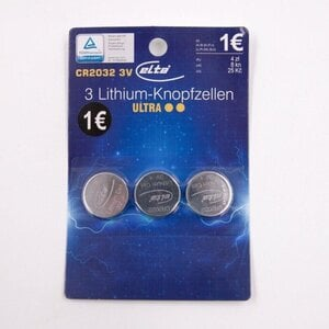 ELTA 3er-Pack Lithium-Knopfzellen/CR 2032 3 V ultra