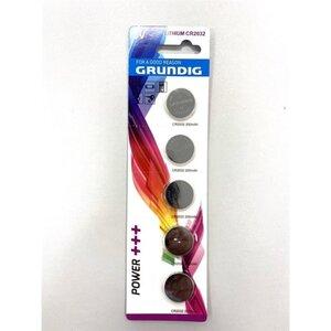 Grundig 5er-Pack Lithium-Knopfzellen CR2032 3 V 200 mAh